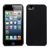 MYBAT IPHONE5HPCIM003NP Slim and Stylish Protective Case for iPhone 5 / iPhone 5S - 1 Pack - Retail Packaging - Carbon Fiber (Fiber Faceplate Protector Carbon)