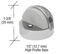 CRL Satin Chrome Finish Zinc Diecast Floor Mounted High Profile 1/2