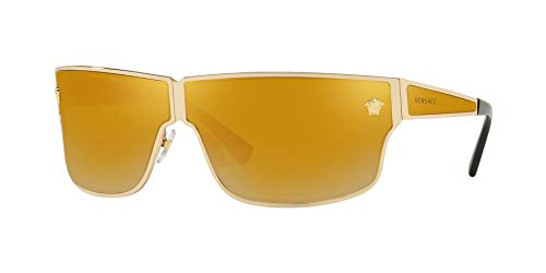 Versace Men's VE2206 Gold/Brown Mirror/Gold One ()
