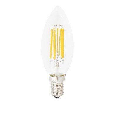 Lights Bulbs, 1pc Dimmable C35 6W E14 LED Filament Bulbs C35 6 COB 550LM Warm White/Cool White Edison Retro Bubble Lampada(220V)