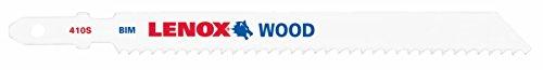 Lenox Tools 20813B410S T-Shank Bi-Metal Wood Cutting Jig Saw Blade, 4-Inch x 3/8-Inch x 10 TPI, 25-Pack