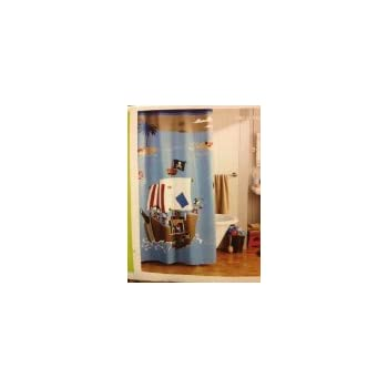 circo pirate bathroom circo pirate shower curtain home amp kitchen 10168