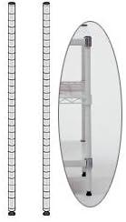 (業務用セット) エレクター ポスト(ホワイト) H30cm 【×3セット】 ds-1643619