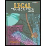 Legal Transcription, Lyle, Linda R., 0763837423
