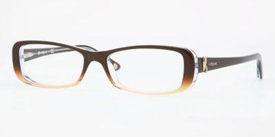Vogue Vo2658 Eyeglasses 1851 Brown/sand Gradient Demo Lens 52 15 140 by Vogue