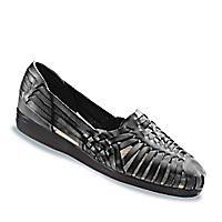 Softspots Women's Trinidad,Black Leather,US 8.5 M