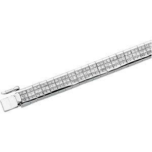 Or blanc 14carats Diamant Rugueux bracelet 83/8ct