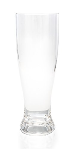 Camco Unbreakable Travel Plisner Beer Glass- 22 Ounce, Dishwasher Safe, BPA Free,  Perfect For Picnics, Cookouts, and The Beach - Set of 8 - Plastic Crystal Pilsners