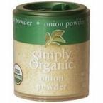 Simply Organic, Onion, White Powder ORGANIC, 0.74 oz. Mini Spice (a)