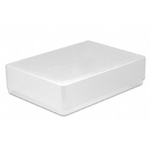 5 X A5 STORAGE BOXES CLEAR PLASTIC BOX LEAFLET FLYER HOLDER FOR OFFICE SMART SHOPPING