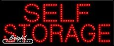 Self Storage LED Sign - 27 x 11 x 1 inches - Made in USA by Bright Neon Signs