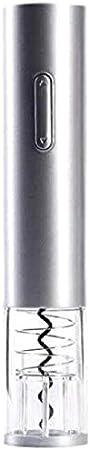 TETHYSUN Abrebotellas de vino Sacacorchos eléctrico eléctrico abridor de vino sacacorchos automático de botella de vino kit inalámbrico con cortador de papel rojo (color gris)