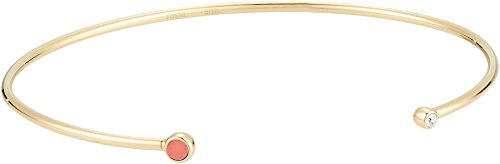 Fossil Women's Triangle Coral Open Cuff Bracelet Gold One Size -