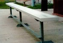 All Star Bleachers, Aluminum Team Benches, Tmbnch-15, Seats: 10, Weight: 181, Ssba-15