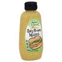 Wegmans Organic Mustard, Spicy Brown, 12oz, (Pack of 2)