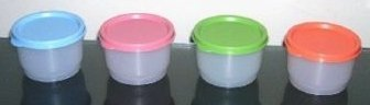 Tupperware Snack Cup Fruit Color Set of 4
