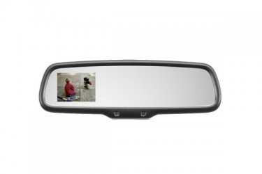 Gentex 50-GENK3350S Rearview Camera Display Mirror Auto Dimming 3.3 in. with HomeLink Compass Temperature