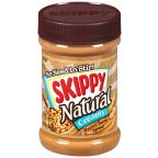 Skippy Peanut Butter Natural Creamy 15 OZ (Pack of 24)