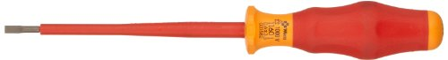 Wera 05031582002 Kraftform Comfort VDE 1160i Slotted Insulated Screwdriver, 3.5mm Head, 100mm Blade Length