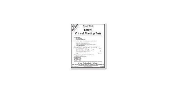 cornell critical thinking test z Microsoft