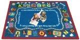 (Joy Carpets Kid Essentials Inspirational Rectangle Bible Train Area Rug, Multicolored, 7'8