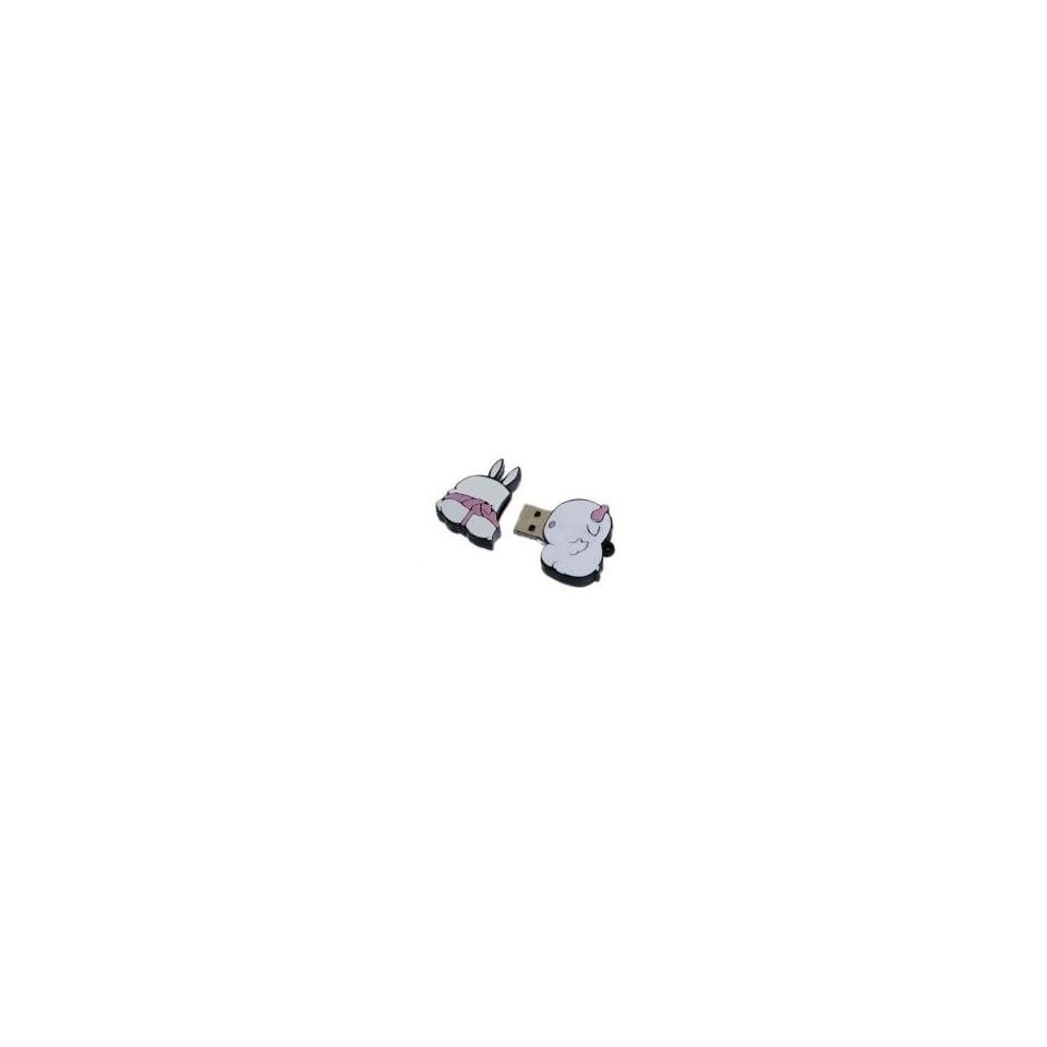 8GB Lovely Rabbit Shaped Cartoon USB Flash Drive White