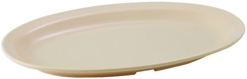 Winco MMPO-138 Oval Melamine Platter, 13-Inch by 8-Inch, Tan