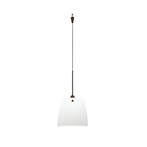 WAC Lighting QP-LED513-WT/DB Ella Quick Connect LEDme Pendant with White Shade and Dark Bronze Socket - Ella Quick Connect
