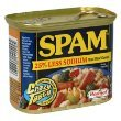 Spam Canned Meat 25% Less Sodium 12 OZ (Pack of 24) by SPAM