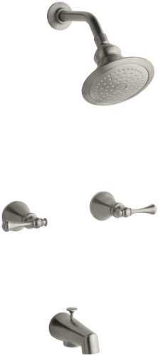 (KOHLER K-16213-4A-BN Revival Bath and Shower Faucet, Vibrant Brushed Nickel)