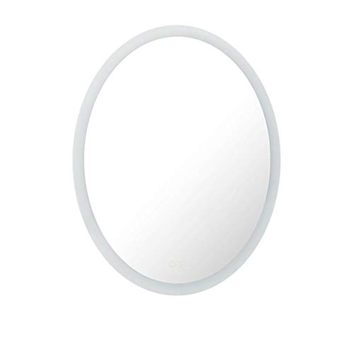 Hfyo Bathroom Mirrors Illumination Bathroom Mirror Led Oval Wall-Mounted Living Room Decorative -