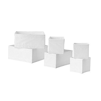 Review 2 X Ikea Storage Box, Set of 6, White By Ikea by Ikea