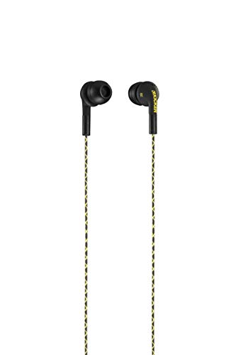 Kicker EB73B Flow Premium Earbuds | in-Ear Noise-Isolating Earphones | Silicon Ear Tips 4 Sizes | in-Line Mic and Multi-Function Button | Legendary Audio Quality
