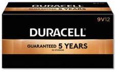 Duracell Coppertop Alkaline 9-Volt Batteries, Box of 12 Batteries