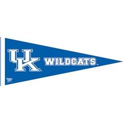 - NCAA Kentucky Wildcats 12'' x 30'' Royal Blue Premium Felt Pennant