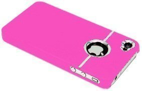 avci Base TPU Bumper Coque pour Apple iPhone 4/4S Chrome Soft Pink