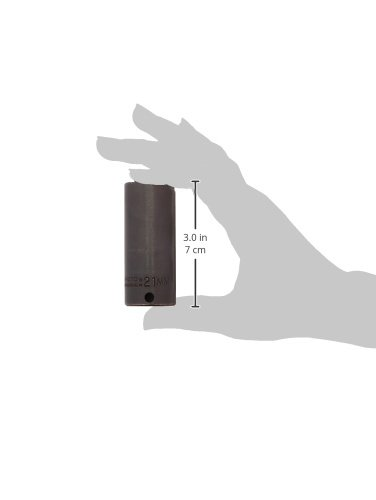 Stanley Proto J7021M 6-Point 3//8-Inch Drive Deep Impact Socket 21mm
