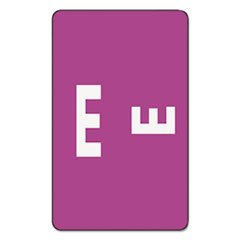 (Smead Products - Smead - Alpha-Z Color-Coded Second Letter Labels, Letter E, Purple, 100/Pack - Sold As 1 Pack - Use as a secondary label with name labels, or use as primary coding labels. - Wraparound labels are readable from both sides of file folder tabs. -)