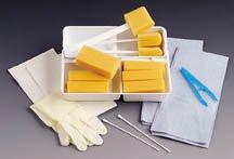 Dry Skin Scrub E*Kits - Contains: 1 towel 17x19 2pp blue, 3 towels 13x19 3-ply paper white, 1 Insrt DYND70250 8.5x5.5, 1 pair aloetouch vinyl 3G powder free gloves, 12 gauze 4x4 8 ply (index 4), 1 forcep transfer blue, 1 CSR wrap 28x28 2pp2 white, 2 bowls 32oz graduated, 1 bag poly 10.5 x 14.5 ml perf, 2 applicators cotton tip 3in plst - 24 Per Case - Model DYND70250
