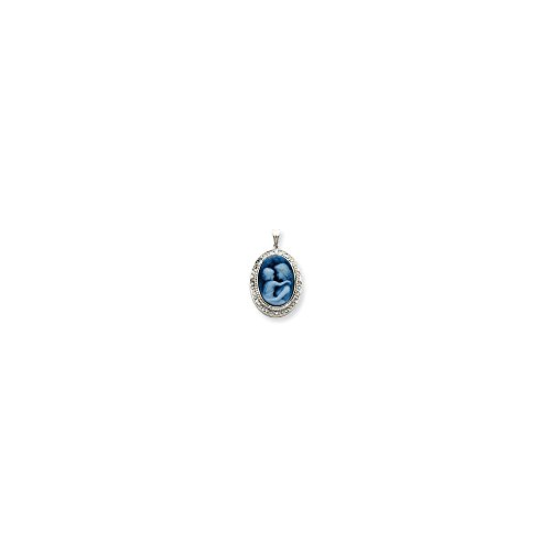 Jewelry Pendants & Charms Cameos 14k White Gold Everlasting Love Diamonds Cameo - Everlasting Pendant Cameo Love