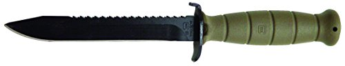 "Glock OEM Field Knife 6.5"" Fixed Blade with Root Saw, Battlefield Green"
