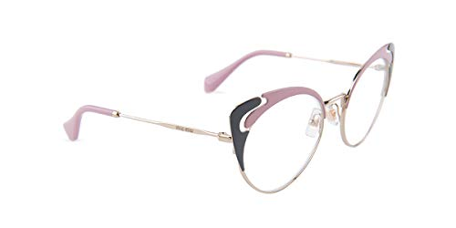 - Eyeglasses Miu MU 50 RV M1R1O1 PALE GOLD/ALABASTER/GREY