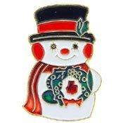 Metal Lapel Pin  Christmas - Snowman