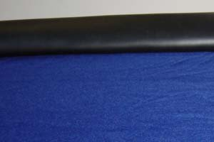 Black Stretchable Poker Table Rail Vinyl 55 x 108 ()