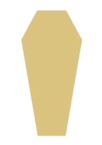 Coffin Unfinished Wood Shape Cut Out Variety of Sizes USA Made Halloween -