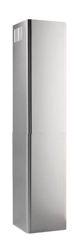 Steel Flue Stainless Extension - Broan FXNE56SS Flue Extension for EW56 Range Hoods, 10-Inch