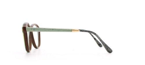 GOLD & WOOD - Monture de lunettes - Femme Vert Vert