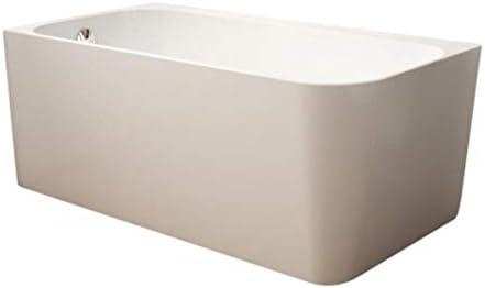 Fleurco BKA5929L-18 Aria Kapelle 59″ Corner Acrylic Soaker Bathtub