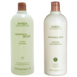 Aveda Rosemary Mint Shampoo & Conditioner Liter Duo (33.8 OZ EACH) by Aveda