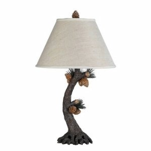 Cal Lighting BO-261 Pinecone Table Lamp Fixture in Evergreen by Cal